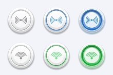 Button with wifi or bluetooth sign