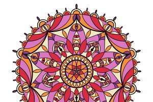 Round ornament Indian pattern