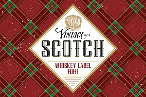 Scotch whiskey label font