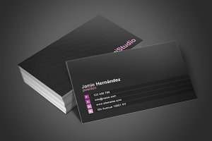 Black Business Card 2