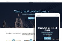 8 Bootstrap One-Page templates
