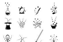 Vector magic icons set