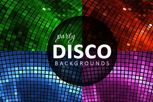 4 Abstract disco backgrounds