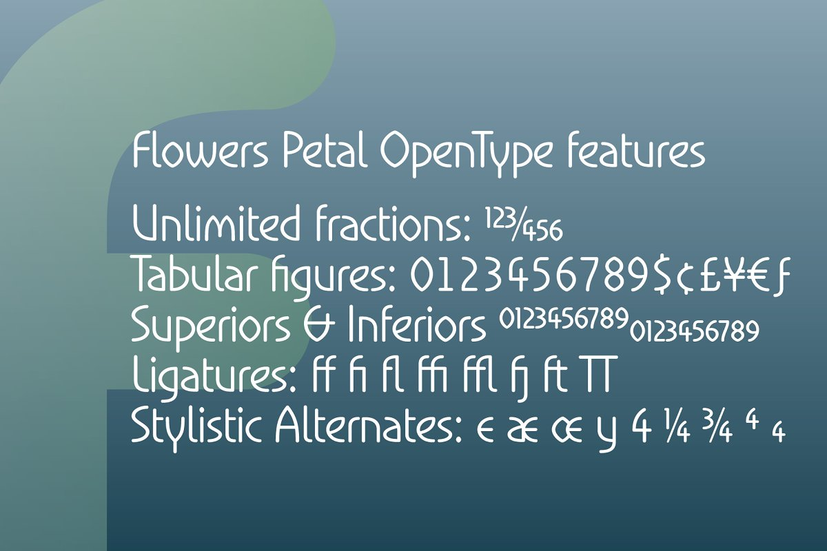 Flowers Petal in Sans-Serif Fonts - product preview 3