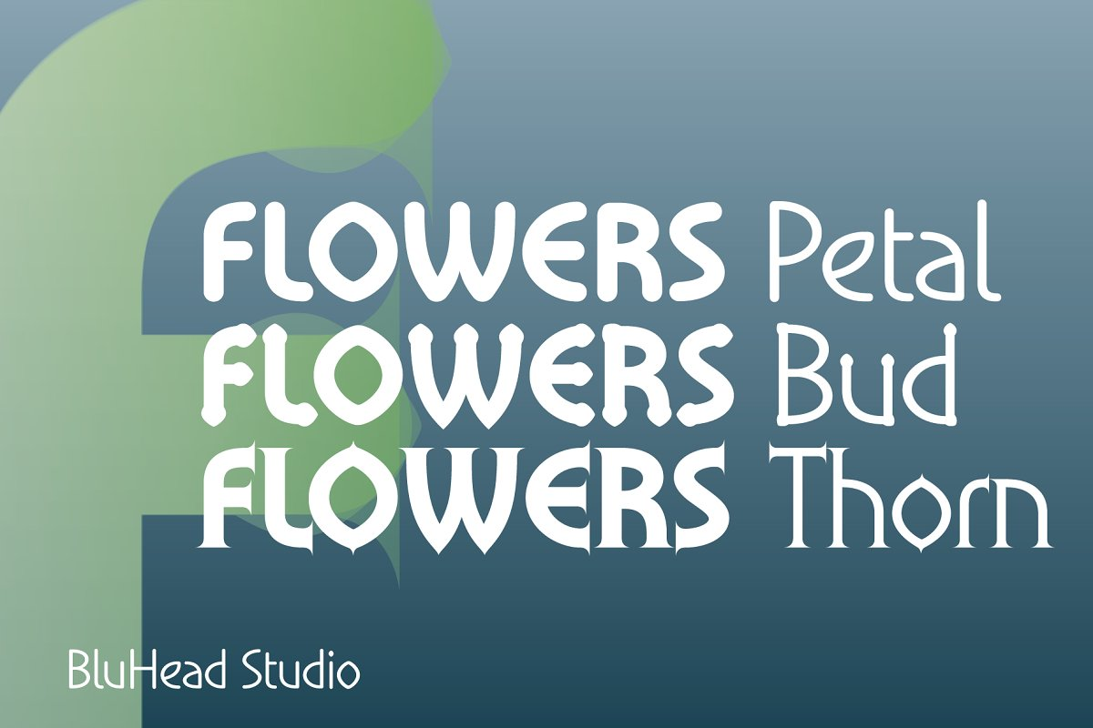 Flowers Petal in Sans-Serif Fonts - product preview 4