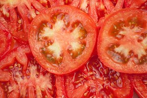 Background of tomatoes