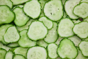 Background of cucumbers