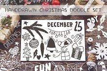 Handdrawn Christmas  doodles