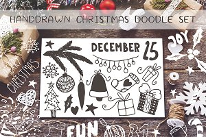 Handdrawn Christmas  doodles