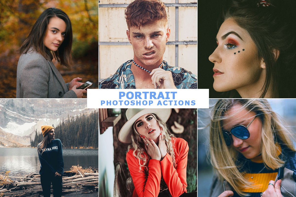Portrait Photoshop Actions in Add-Ons