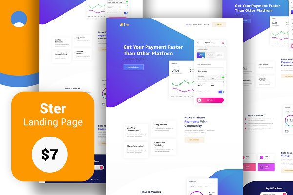 Ster- Landing Page Template