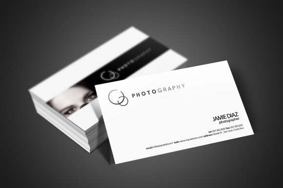 photographer business card business card templates creative market