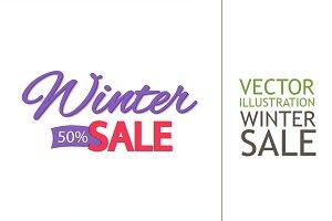 Seasonal Sale. Winter Discounts