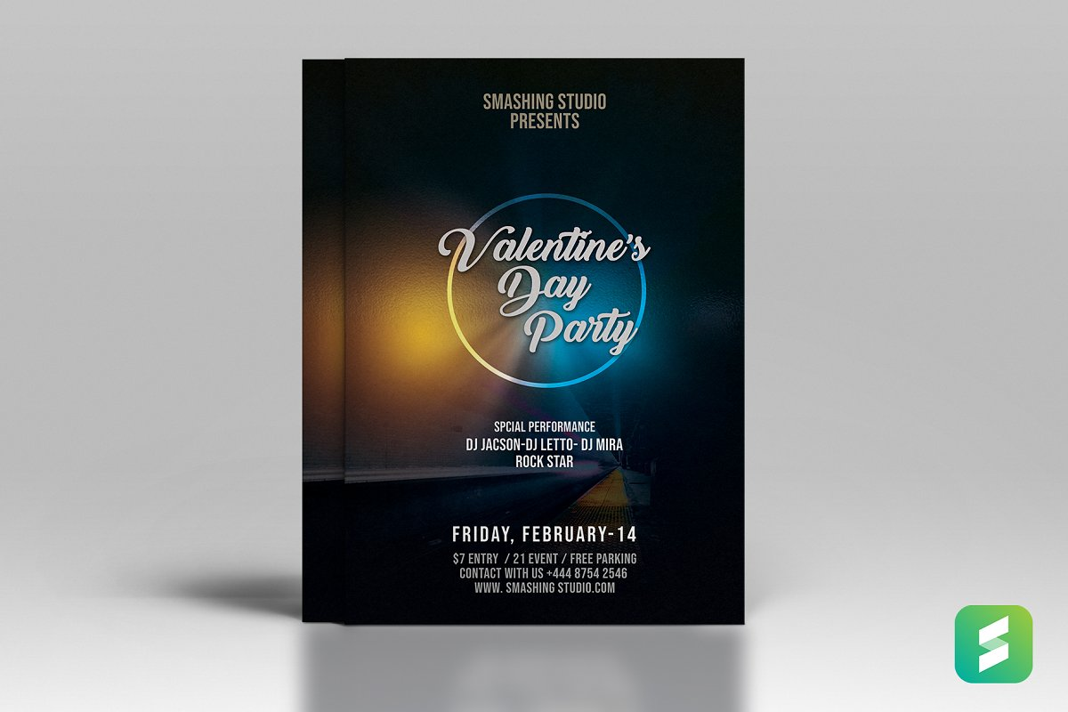 Valentines Party Flyer (Print Ready)