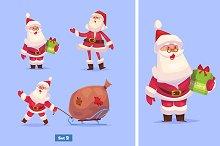 Set 2 of Funny Santa