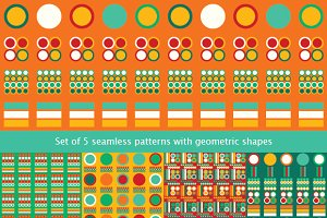 Set of 5 seamless patterns