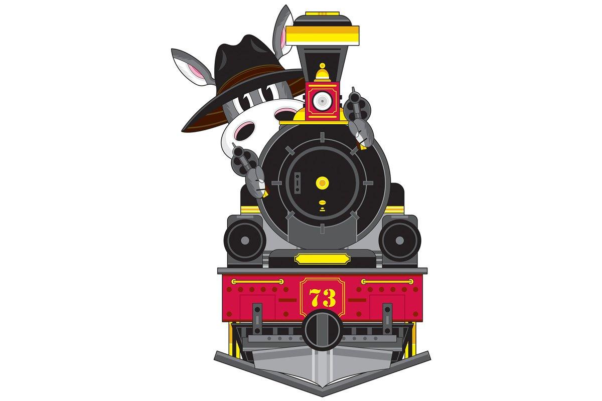 Donkey Cowboy Outlaw & Train