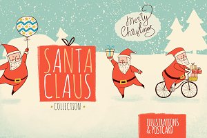 Santa Claus. Christmas cards.