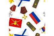 Seamless pattern of russian army