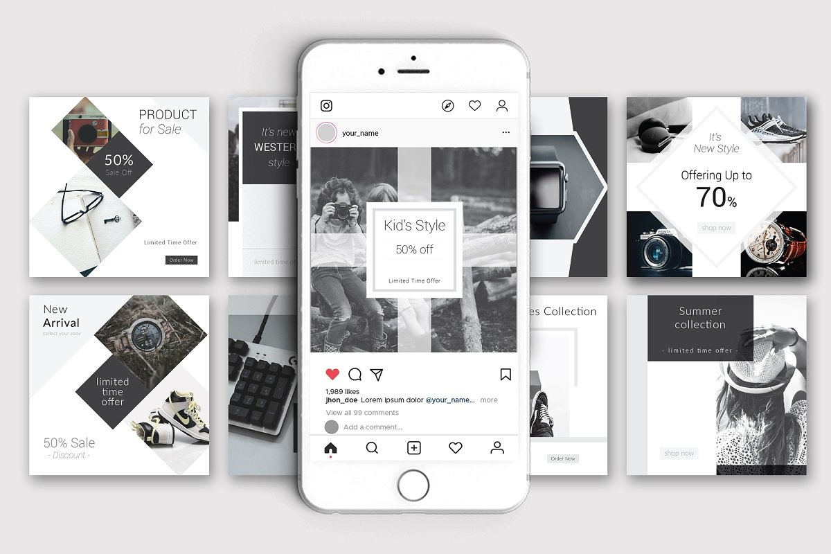 Black and White Social Media Pack