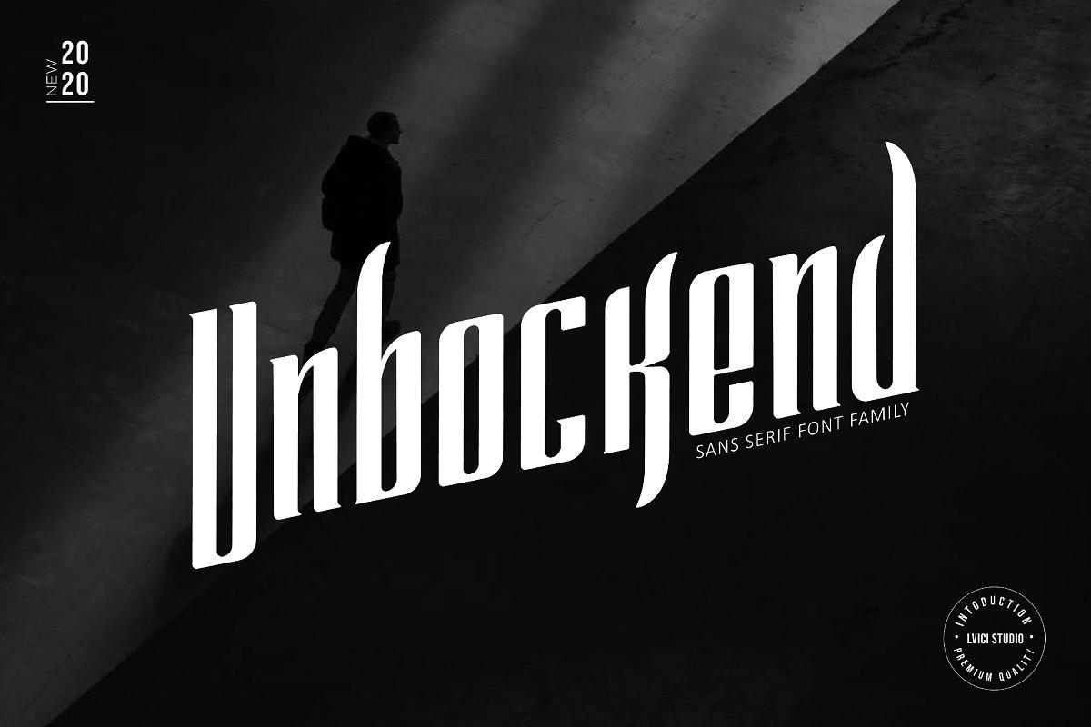 Unbockend - Sans Serif Font Family