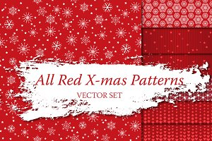 7 Red Christmas Patterns