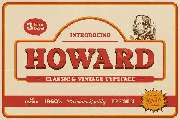 Howard - Retro Vintage Typeface