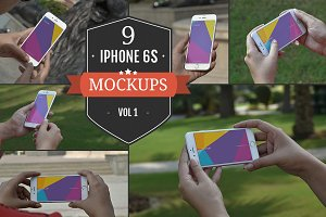 Apple iPhone 6S PSD Mockups Vol. 1