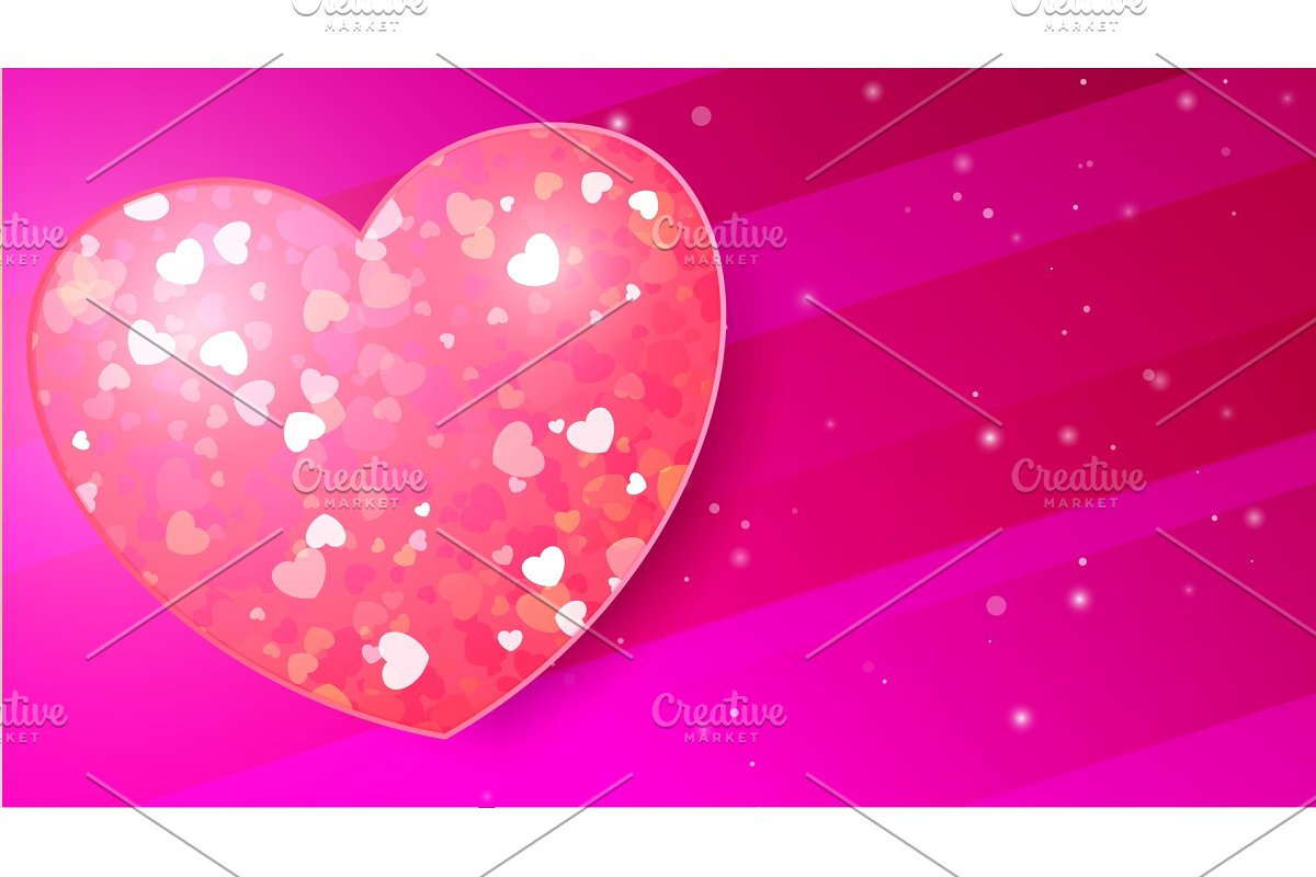 Card for Valentines Day in Textures