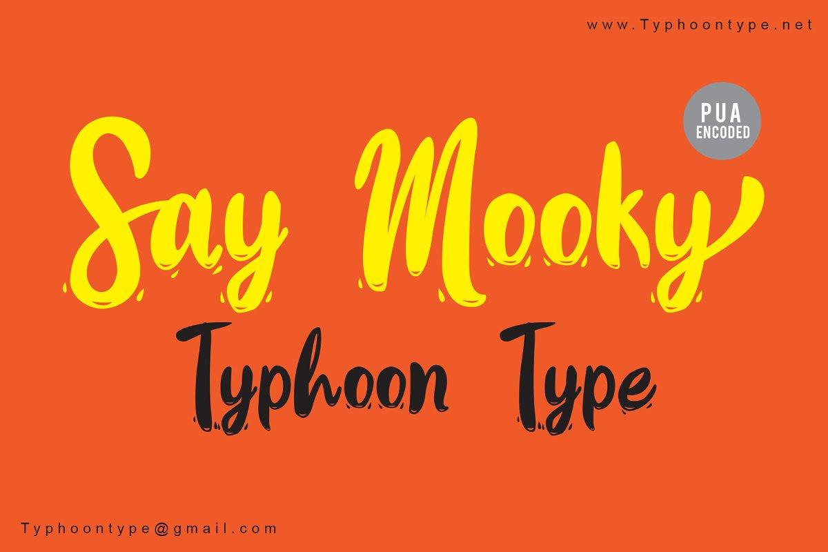 Say Mooky font