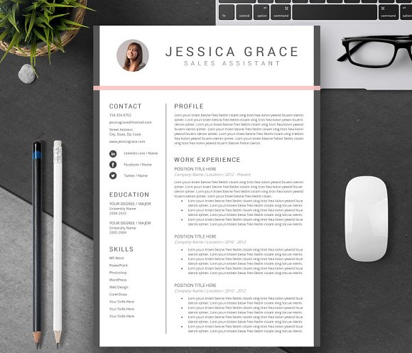 resume cv template design - Resume Template Design