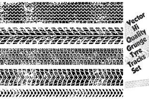 Grunge Tire Track Texture Set