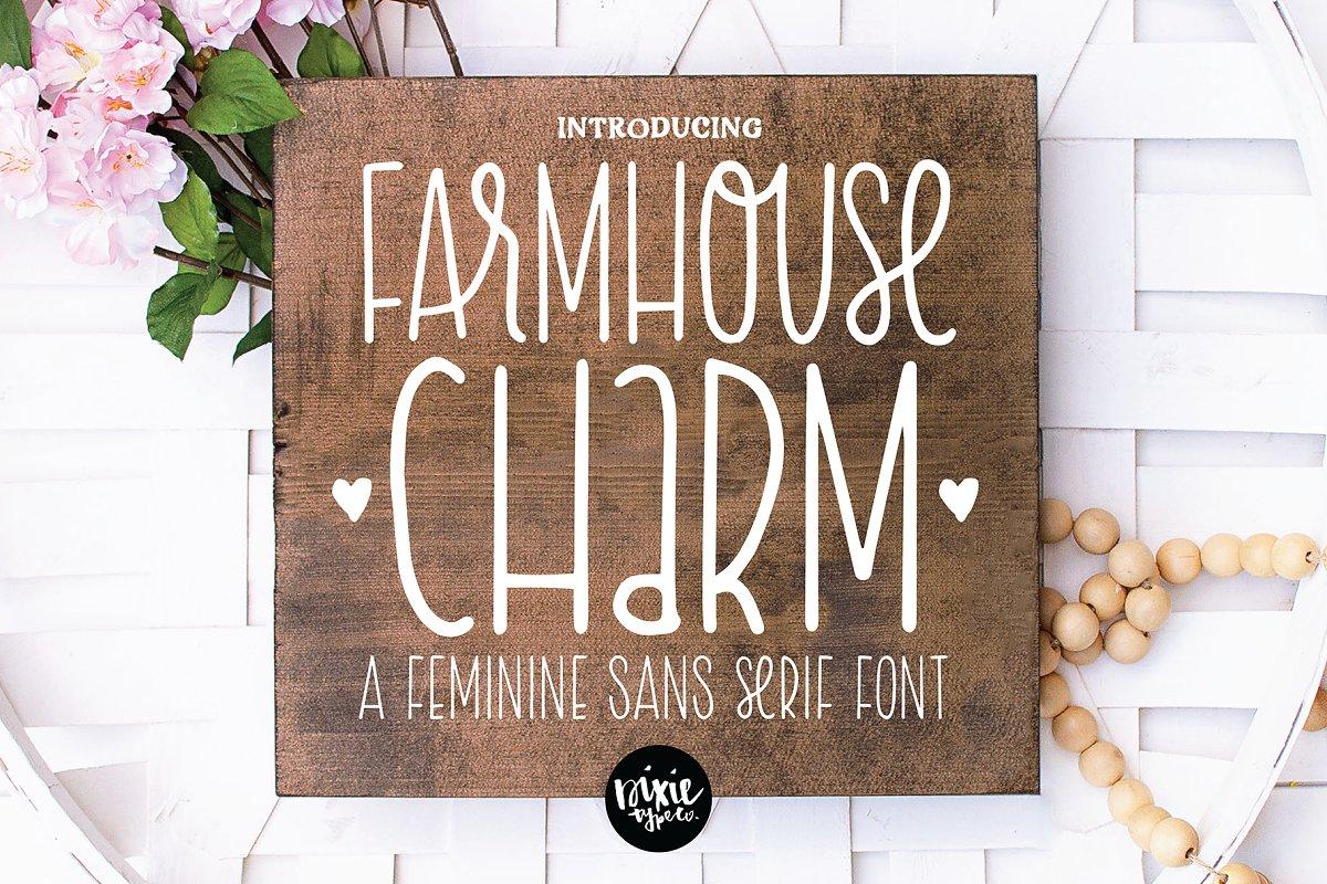 FARMHOUSE CHARM a Sans Serif Font