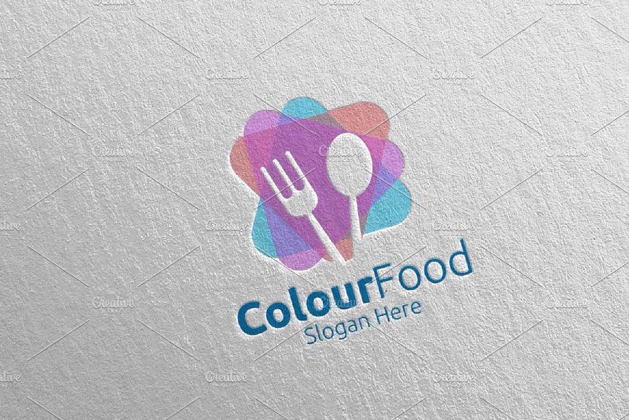 Color Food Logo Restaurant, Cafe 66