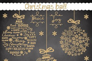 Vector christmas ball cliparts