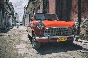 Classic retro car in Havana, Cuba