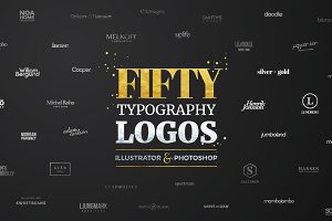 Fifty Typography Logos Bundle