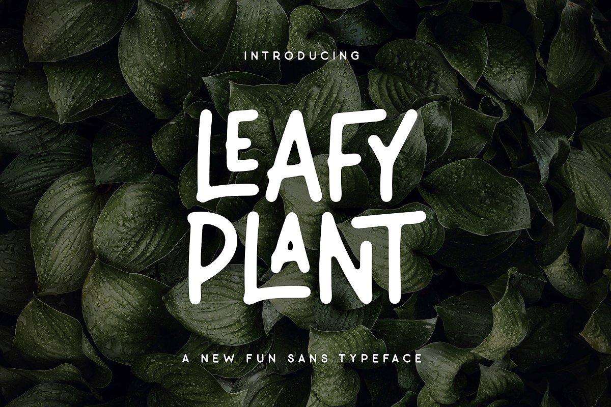 Leafy Plant Fun Typeface