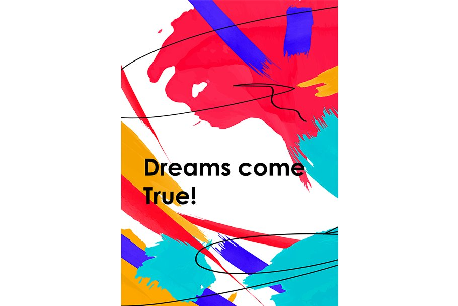 Dreams come true phrase abstract