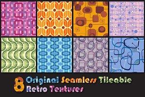 8 Vector Retro Vintage Textures