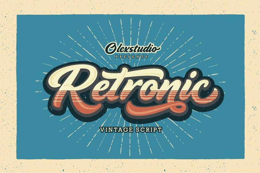 RETRONIC - Vintage Script