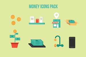 8 Money Icons Pack