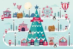 christmas wonderland vector