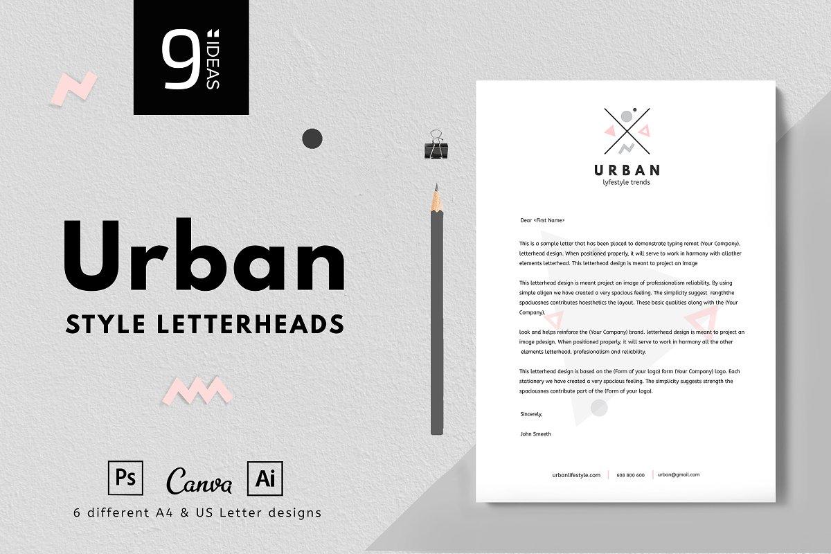 Urban letterheads - 6 Designs