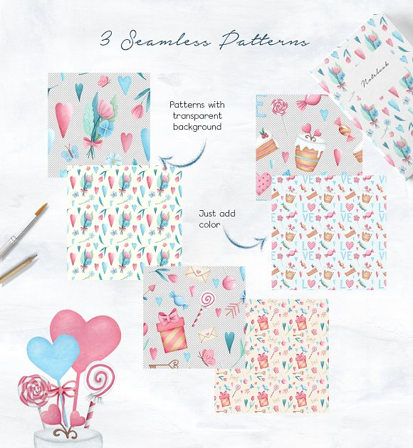 Valentine's Day Sweet Set in Illustrations - product preview 3