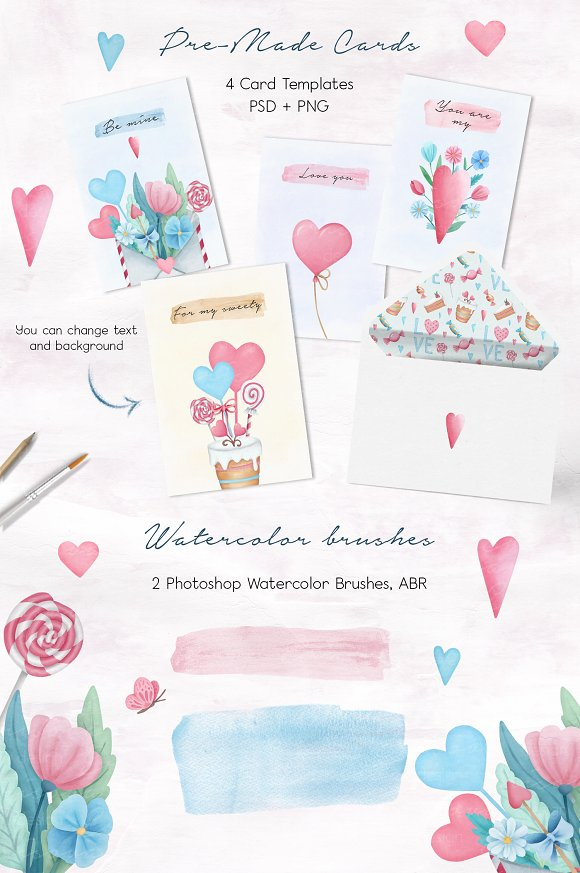 Valentine's Day Sweet Set in Illustrations - product preview 4
