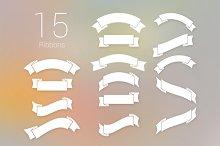 15 PSD Ribbons - 2 Styles