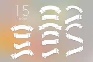 15 PSD Ribbons - 2 Styles