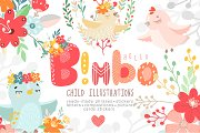 Bimbo. Child Illustrations.