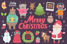 Cute Christmas characters & objects